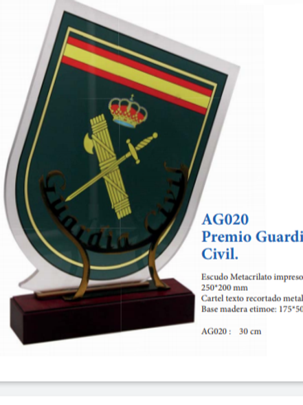 Premio Guardia Civil (metacrilato)