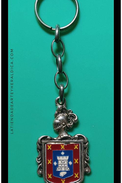 Molina  llavero de plata escudo en esmalte