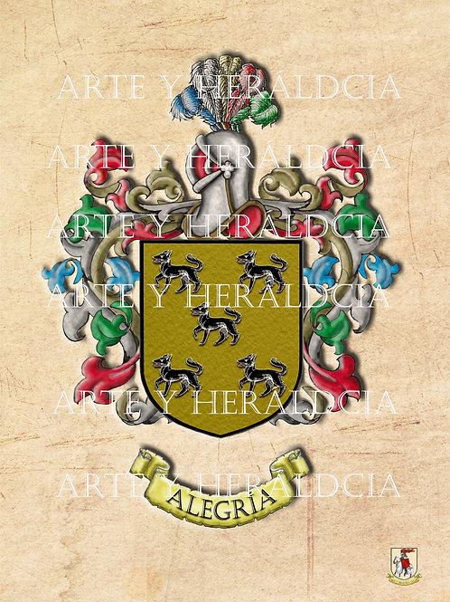 escudo del apellido Alegria