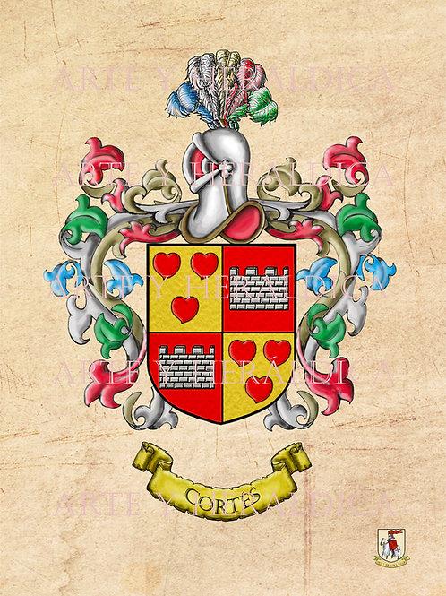 Cortés escudo vintage en PDF