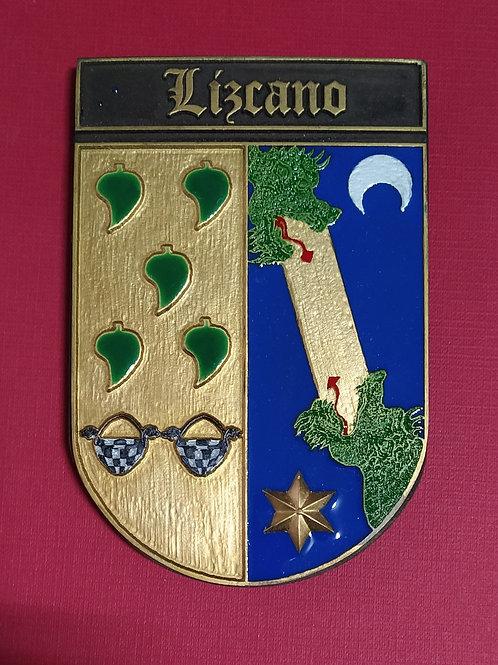 Lizcano ( escudo en esmalte)
