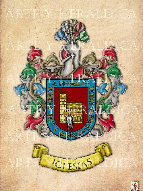 escudo del apellido Iglesias