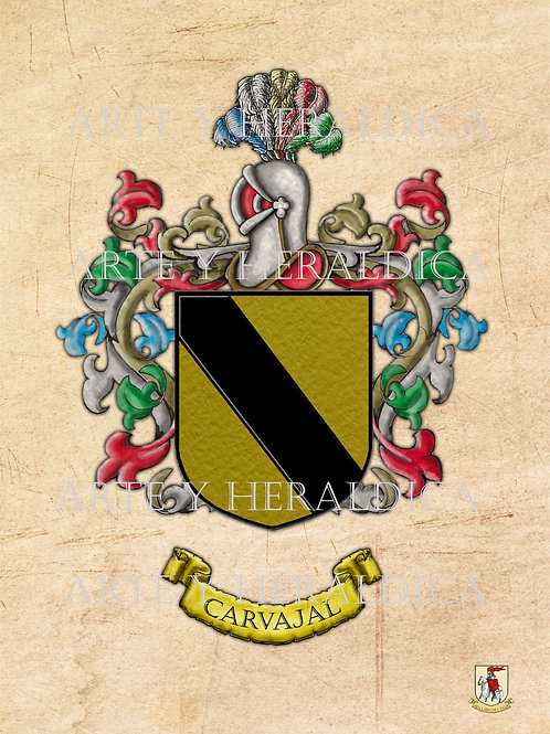 escudo del apellido Carvajal