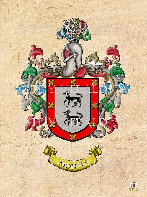 Montes escudo vintage en PDF