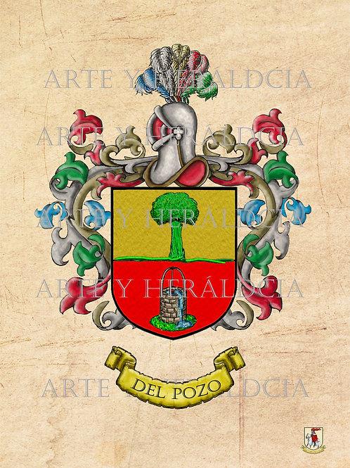 Pozo Del,  escudo vintage en PDF