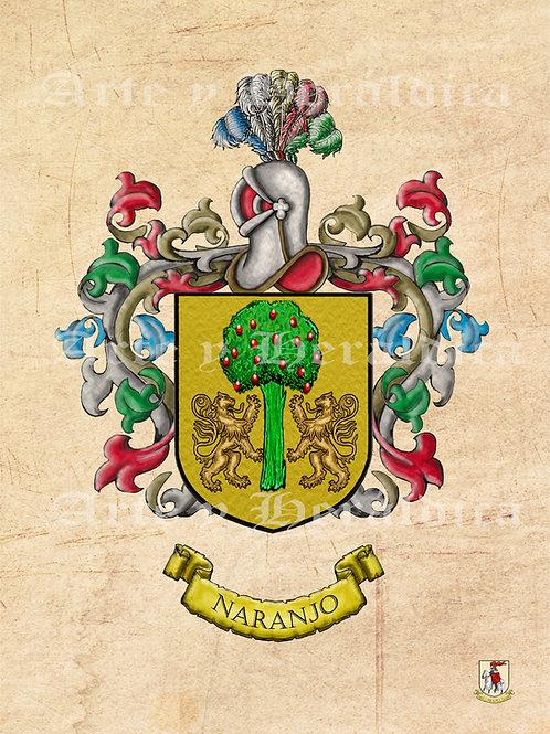 Naranjo escudo vintage en PDF