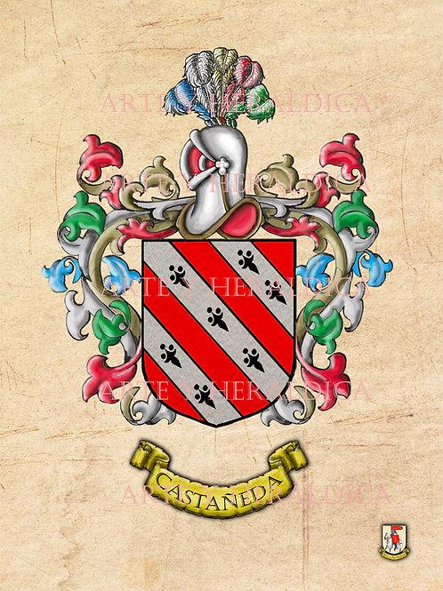 Castañeda escudo vintage en PDF
