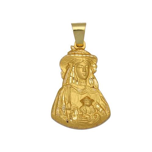 Medalla Virgen del Rocío Pastora oro 18 Kl. 18x29mm.