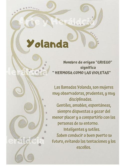 Yolanda, origen del nombre para descargar
