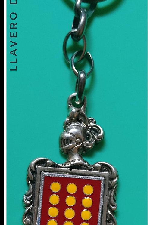 López llavero de plata escudo en esmalte