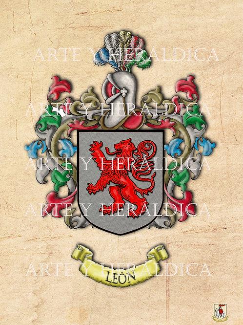 León escudo vintage PDF