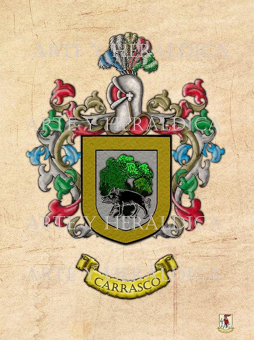 escudo del apellido Carrasco