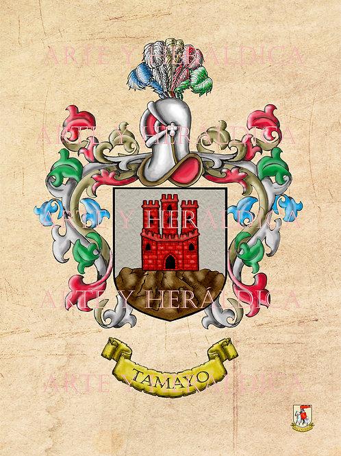 Tamayo escudo vintage en PDF
