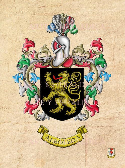 escudo del apellido Alboleda