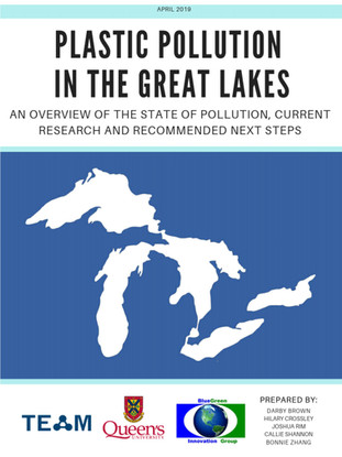 Plastic Pollution in the Great Lakes  - REPORT