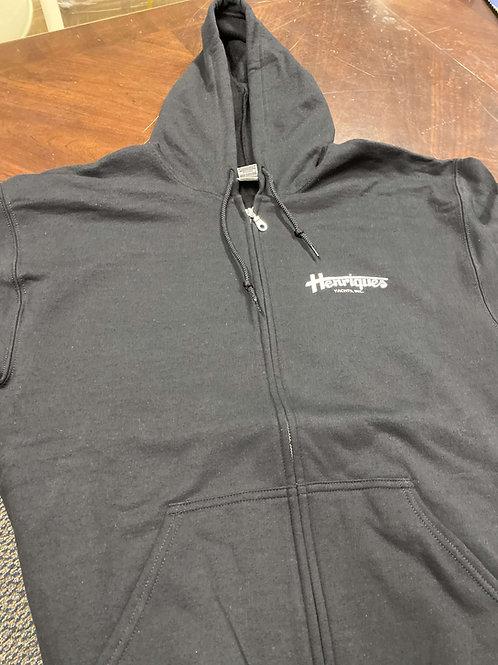 Zip Up Hoodie (White Logo)