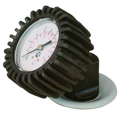 GUMOTEX Manomètre pour valves Push-Push (y compris adaptateur)