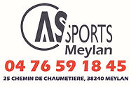 logo as sports rectangle avec tel et adr