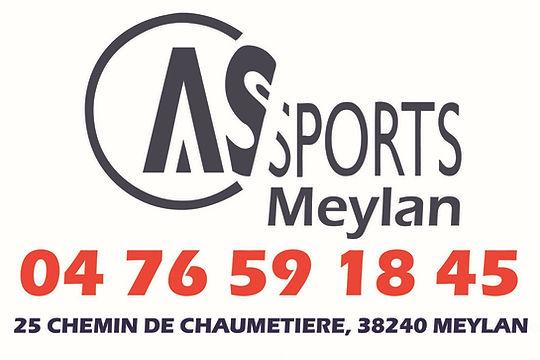 logo as sports rectangle avec tel et adr