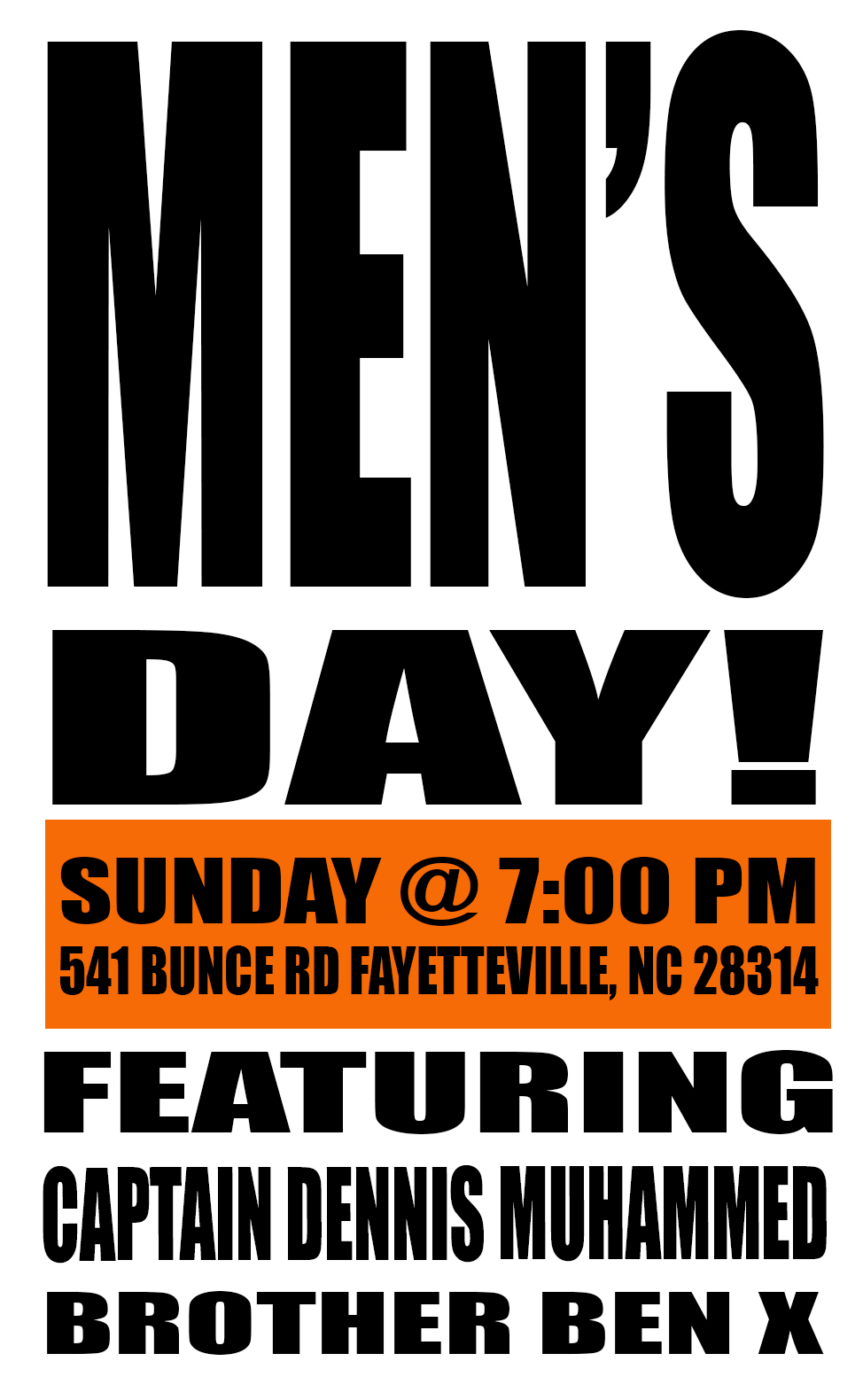 MENS DAY TEXT ONLY