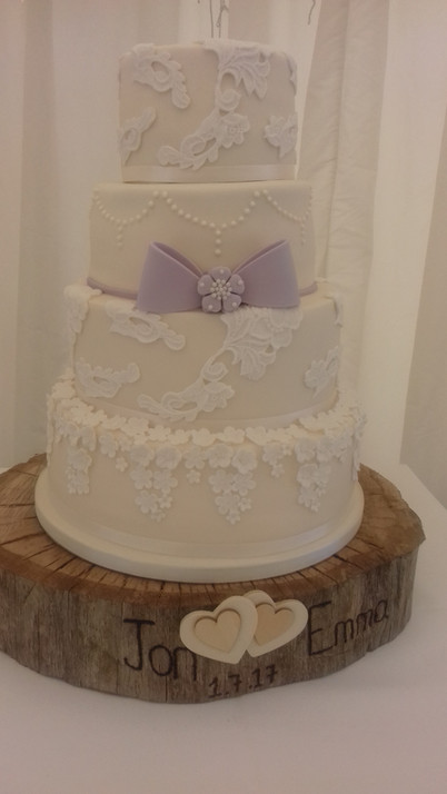 Carved board wedding