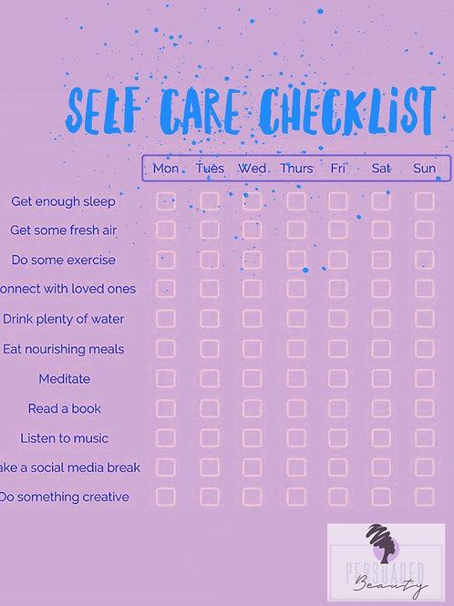 Printable Self Care Checklist