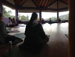 Meditación sentados.