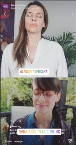 Meditando con Ángela Vergara