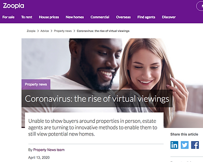 zoopla article about 3d 360º virtual tour and video tour