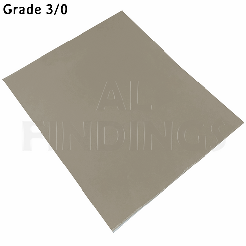 6x 3/0 Grit Emery Sand PaperCloth Sheets