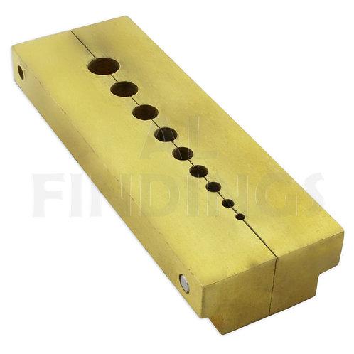 9 Hole Brass Split Staking Anvil