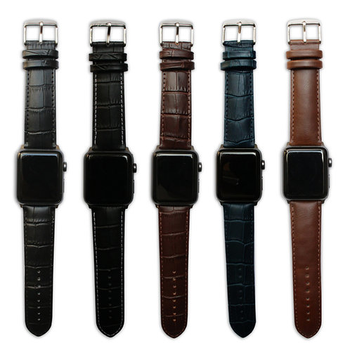 Genuine Leather Apple Watch Strap Range : Various Colours
