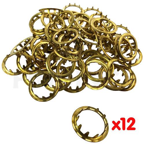 12mm Brass Grommets x12