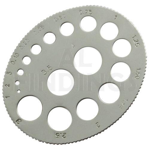 Round Diamond Gauge Measure 0.01-4 Carat Craft Jewellers Tool
