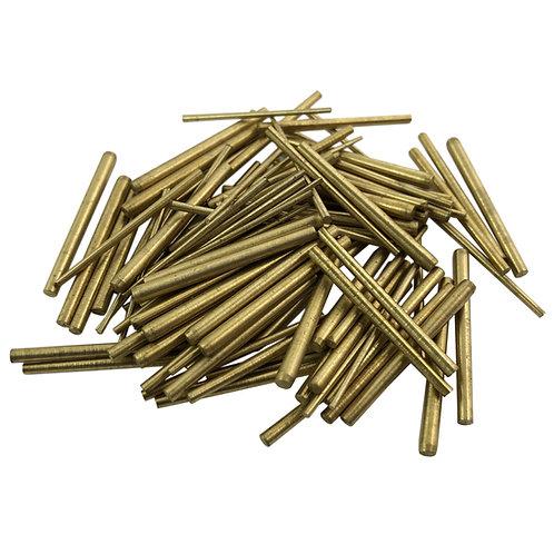 100x Clock Brass Taper Pins