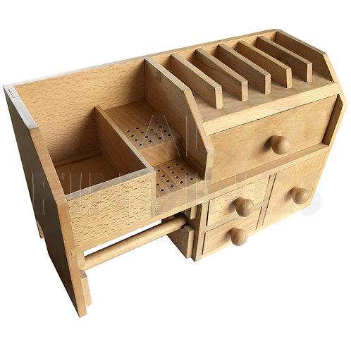 Large Wooden Bench Top Storage Rack