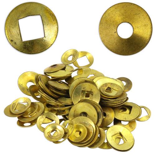 200 Brass Clock Washers : Square & Round
