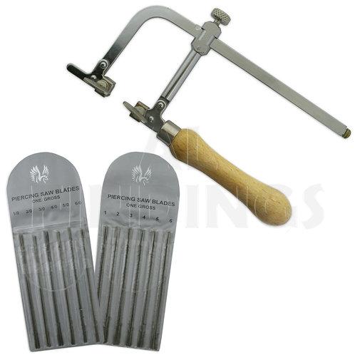 Adjustable Saw & Blades & 244 Blades (144 '1/0-6/0' & 144 '1-6')