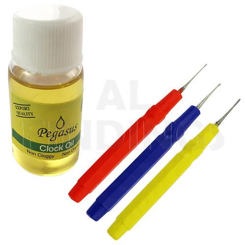 Clock Oil & 3 Pins Set