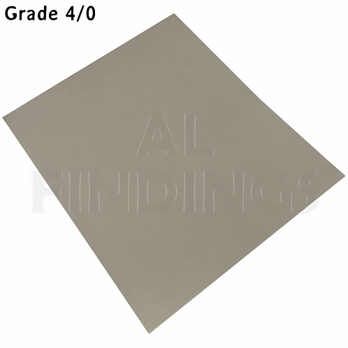 6x 4/0 Grit Emery Sand Paper Cloth Sheets