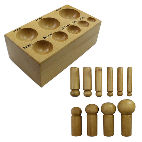 11pc Doming Block and Punch Set