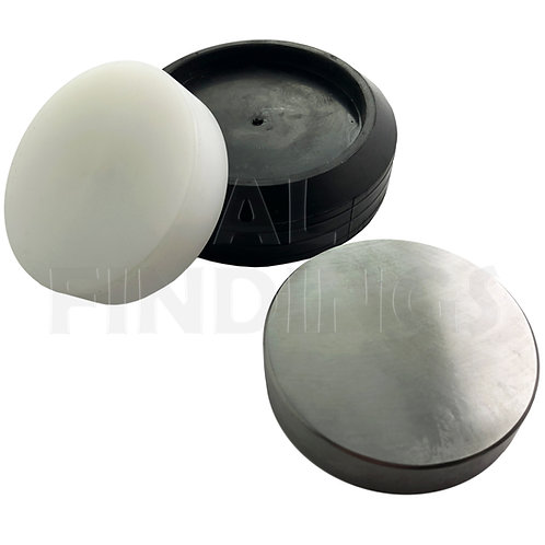 "3"" Round Solid Steel & Nylon Bench Block Anvil"