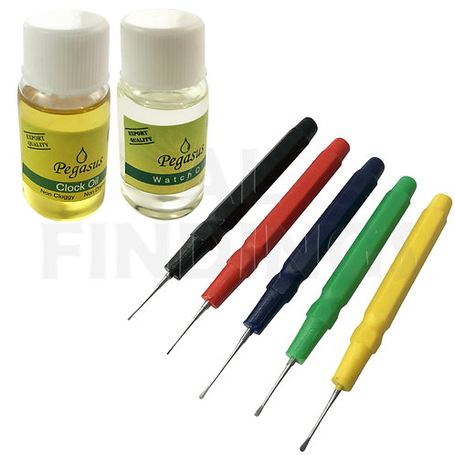10ml Watch & Clock Oil with 5 Oil Pins