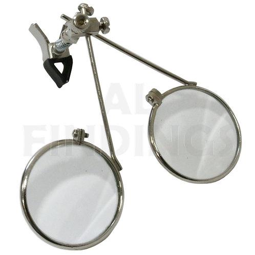 3.3x & 3.3x = 6.6x Clip On Double Lens Loupe Magnifier