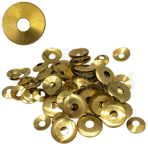100 Brass Domed Clock Washers : Round Hole