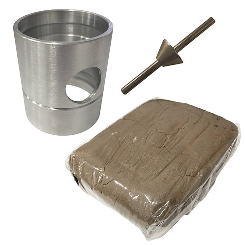 Aluminium Sand Casting Flask Set - Delft Style 100x100mm +1kg Sand + Brass Sprue