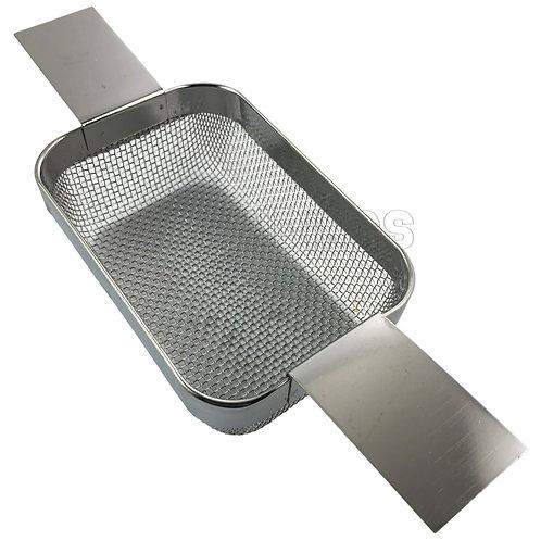 "Stainless Steel Mesh Ultrasonic Basket : 4.5 x 3"""