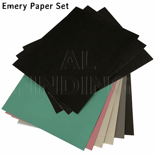 Set 8 Jewellers Emery Paper Jewellery All Grades 150-2000 Various Grit
