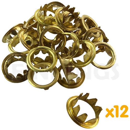 10mm Brass Grommets x12