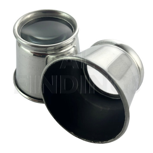 Aluminium Eye Glass Loupe - 3x Magnifying